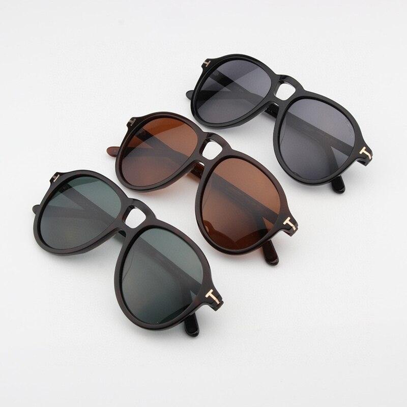 Солнцезащитные очки в ретро стиле для мужчин и женщин, роскошные брендовые винтажные авиаторы UV400, овальные солнечные очки, TF0645, 2021