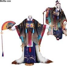 مخصص حجم SSR Onmyoji Tamamo لا ماي تأثيري زي الأولى unawaken كيمونو اللباس wafuku موحد هالوين ازياء أنيمي الملبس