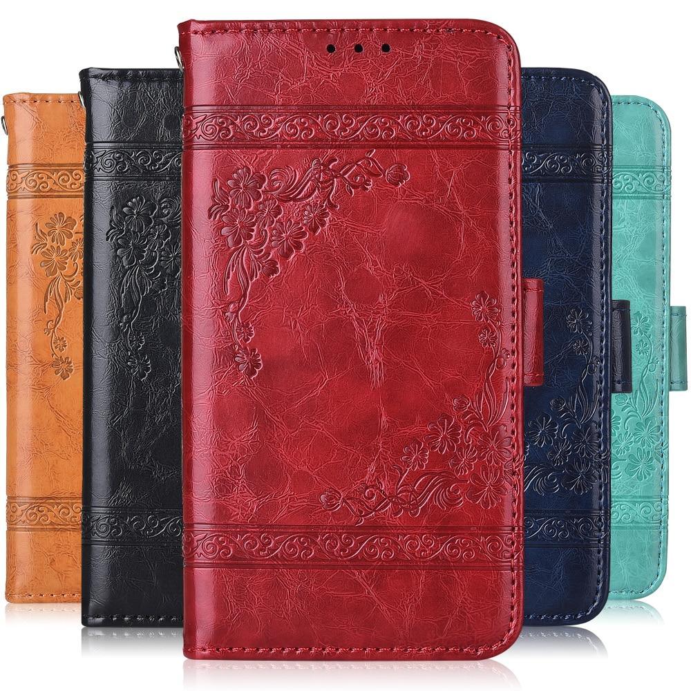 Para mil millones Capture Plus funda con correa de cuero Vintage de lujo cartera con bolsillo de tarjeta Kickstand bolsa de teléfono