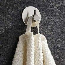 Crochets adhésifs solides en acier inoxydable   Pour salle de bains, porte-linge, décoration murale, manteau cintre pour vêtements, porte-chapeau de cuisine, salle de bain