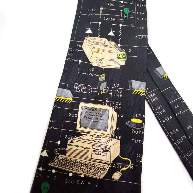 Free Shipping New Male men's Original design Fun computer female decorative shirt trend personalized print design Europe ncktie