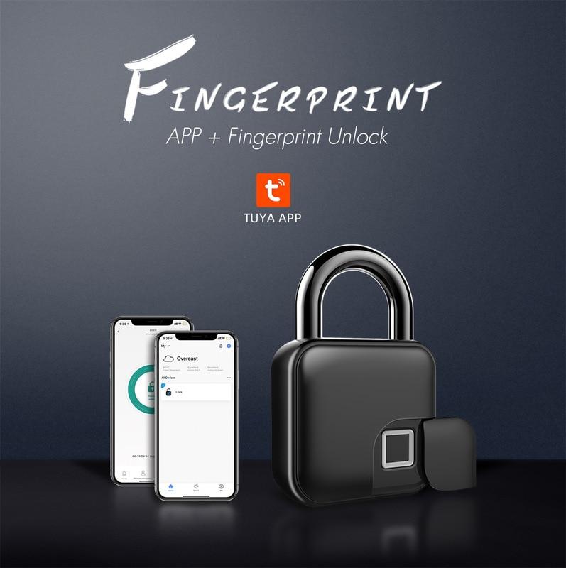 L3 قفل ببصمة الأصبع قفل الذكية بلوتوث Tuya APP قفل عنبر مكافحة سرقة