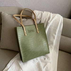 Luxury Crocodile handbags for Women Bags Designer Big Tote Bags High Quality Soft Leather Shoulder Bag Female Top-handle Bags
