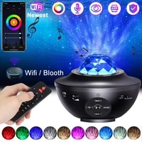 Bluetooth Music Led Projection Lamp Remote Control Bluetooth Wifi Smart Star Projector Light Led Starry Sky Projection Light D30