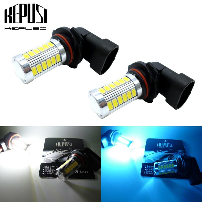 2x 9006 HB4 Car LED Fog Lamp LED DRL Fog Light Driving Lamp Bulb White Blue For Toyota 4Runner Corolla Camry Avalon Sienna