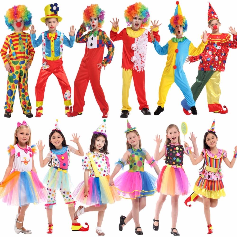 أزياء المهرج Umorden Purim, أزياء الهالوين للأطفال ، زي السيرك مهرج للفتيات ، أزياء فانتازيا للأطفال ، تأثيري للأولاد