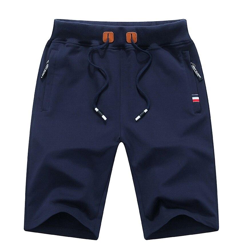 Men's Summer Breeches Shorts 2021 Cotton Casual Bermudas Black Men Boardshorts Homme Classic Brand C