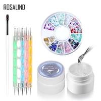 1set jelly wash free sticky diamond glue set uv free diamond nail polish glue diy nail crystal nail glue female nail makeup tool