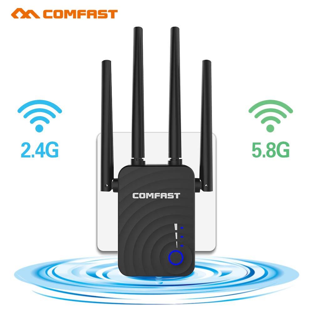 Comfast CF-WR754AC 2,4 Мбит/с беспроводной усилитель Wifi ретранслятор/маршрутизатор/AP двухдиапазонный 5,8 и ГГц 4-антенный усилитель сигнала дальнего д...