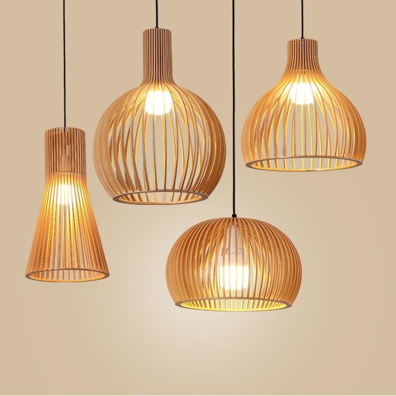 مصباح سقف بتصميم عصري على الطريقة اليابانية ، تصميم جنوب شرق آسيا ، إضاءة داخلية مزخرفة ، شكل قفص العصافير ، مثالي لمقهى القهوة.
