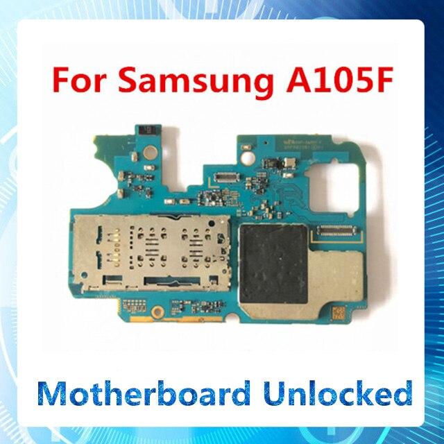 Desbloqueado de fábrica para Samsung Galaxy A10 A105F placa base oficial Android panel instalado con chip original sustituido A105F fee