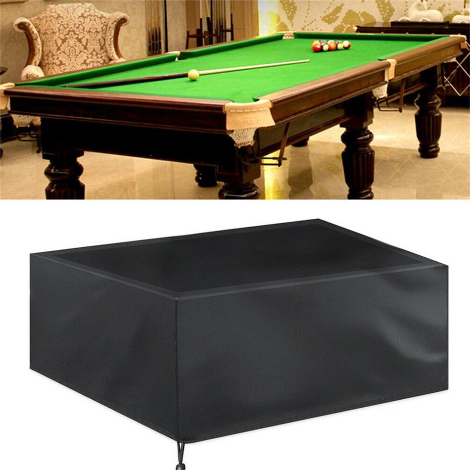 Mesa de billar cubierta de polvo muebles cubierta impermeable de fibra de poliéster cubierta de billar a prueba de polvo para Snooker 7/8/9 pies cubierta de billar
