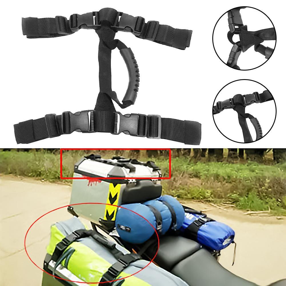 Accesorios de motocicleta caja lateral trasera Pannier manija Correa cuerda para BMW h-onda KTM con hebilla motocicleta Pannier cuerda