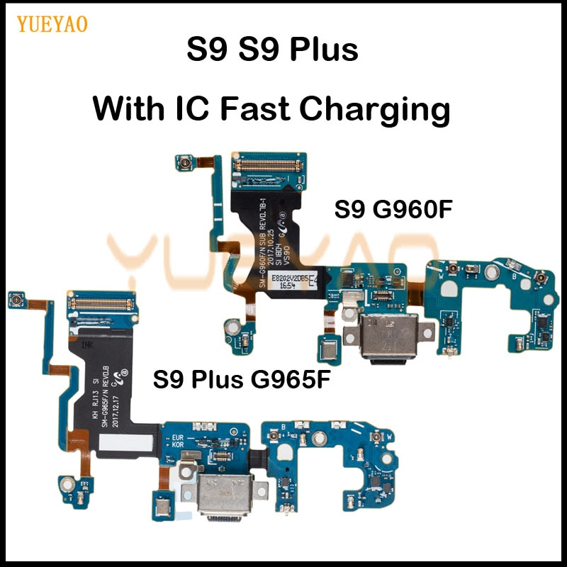 S9 Plus G965F Charging Flex For Samsung Galaxy S9 G960 G960F USB Charging Charger Port Dock Connecto