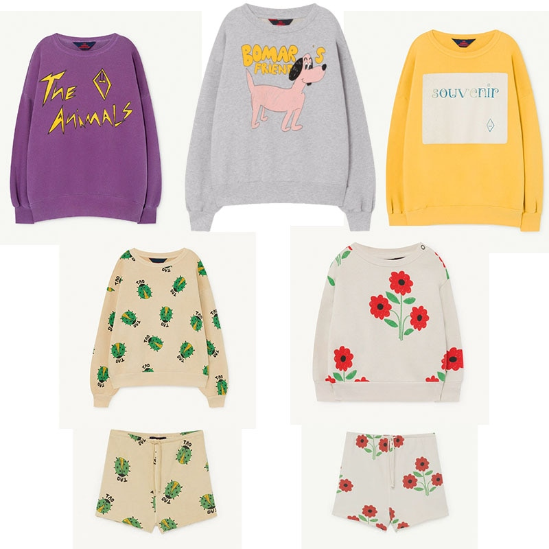 EnkeliBB 2020 TAO Kids Tops For Boys and Girls Children Oversize Casual Style Sweatshirt Toddler Spring Brand Clothes Flower Dog