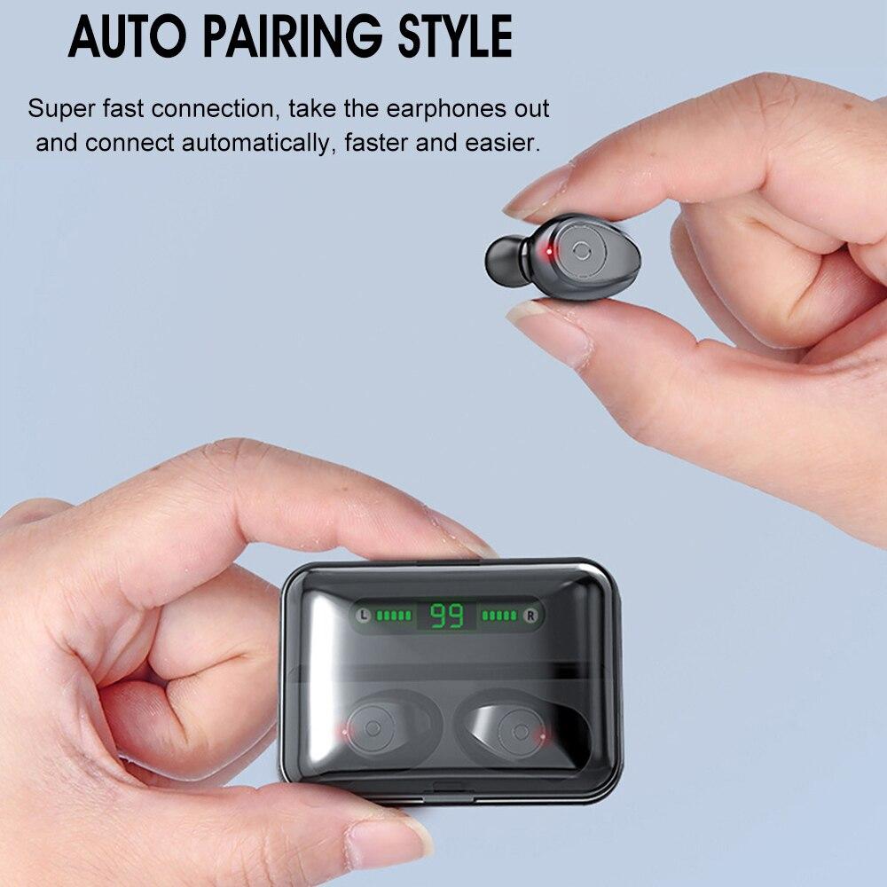 F9 TWS Bluetooth 5,0 наушники с цифровым дисплеем беспроводные наушники стерео наушники для Samsung Galaxy buds iPhone