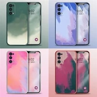 liquid silicone luxury square watercolor case for huawei p20 p30 p40 mate 20 30 40 pro painti colorful gradient soft cover