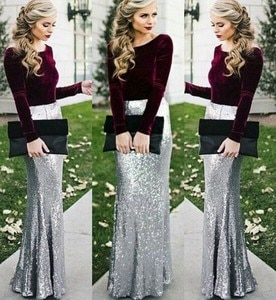 Evening Prom Dresses 2020 Woman's Party Night Celebrity Cocktail Long Mermaid Dresses Plus Size Dubai Arabic Formal Dress