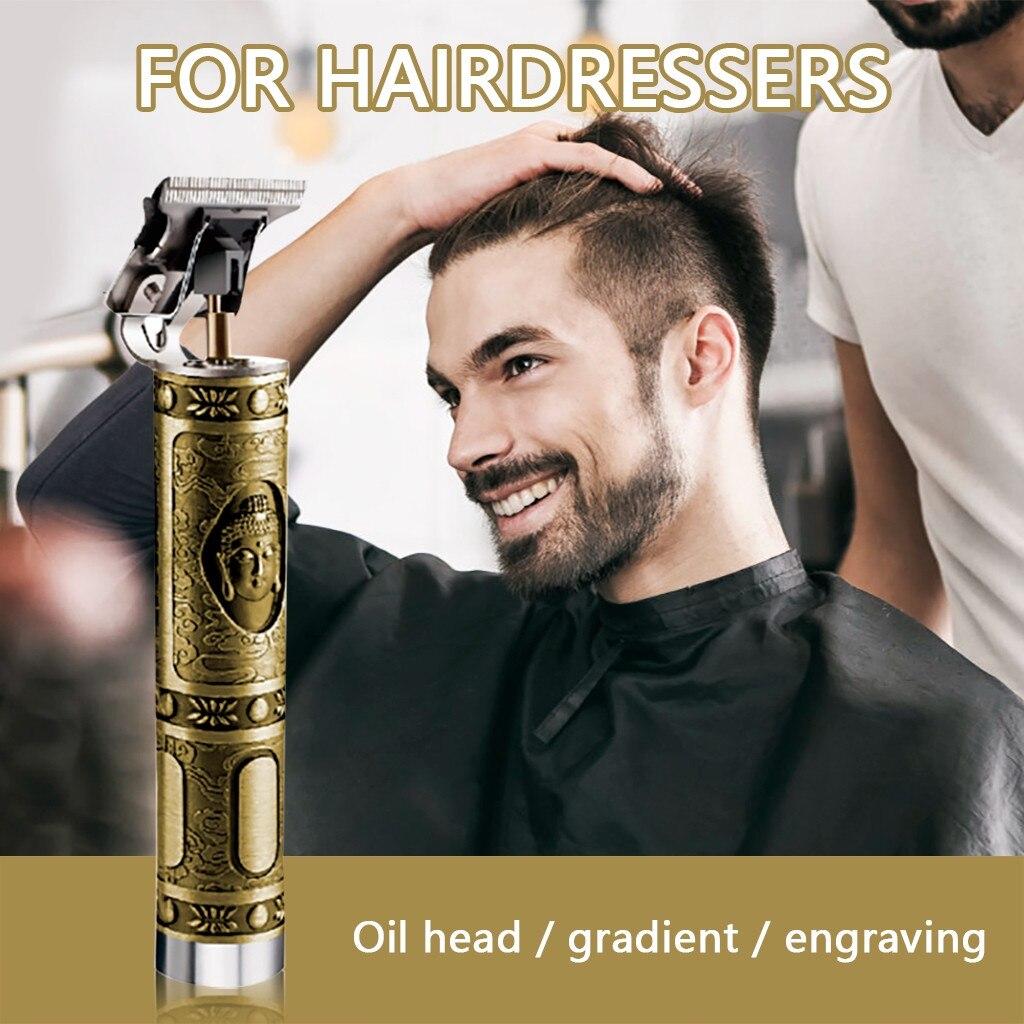 مصفف شعر محترف للرجال مشذب كليبرز حلاق كهربائي يعمل بالضغط والقص مصفف شعر مصغر مصفف شعر ماكينة حلاقة سريعة الدفع