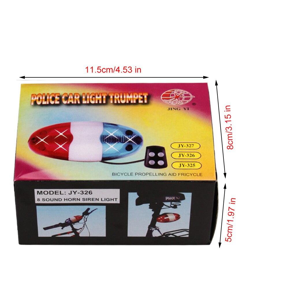 Купить с кэшбэком Bicycle 6 Flashing LED 4 Sounds Police Siren Trumpet Horn Bell Bike Rear Light For Taillight Waterproof MTB Bike Accessories