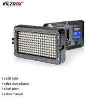 viltrox vl 162t portable led video light camera photo lamp panel lamp cri953300k 5600k bi color for camera dv youtube show live