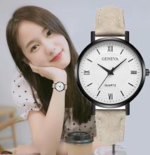¡Novedad de 2019! Relojes de cuarzo de marca superior para mujer, reloj de pulsera Retro marrón y negro para mujer, reloj Vintage para mujer