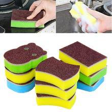5/10 sztuk Hippo kształt z węglika krzemu gąbka szczotka pranie w kuchni urządzenia do oczyszczania naczyń. Idealny do mycia miski, stali nierdzewnej itp.