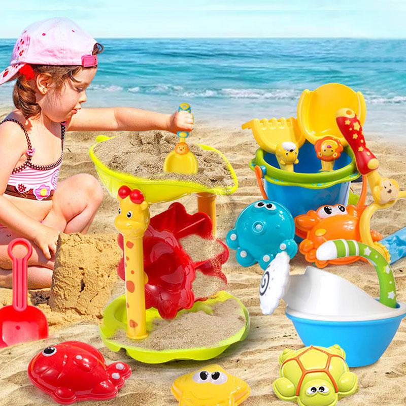 Детские пляжные игрушки, детские пляжные игрушки, детские песочные часы, набор инструментов, летние пляжные игрушки, игры в песок и воду
