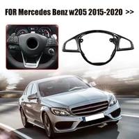 genuine carbon fiber steering wheel button frame trim interior car styling accessories for mercedes benz w205 amg