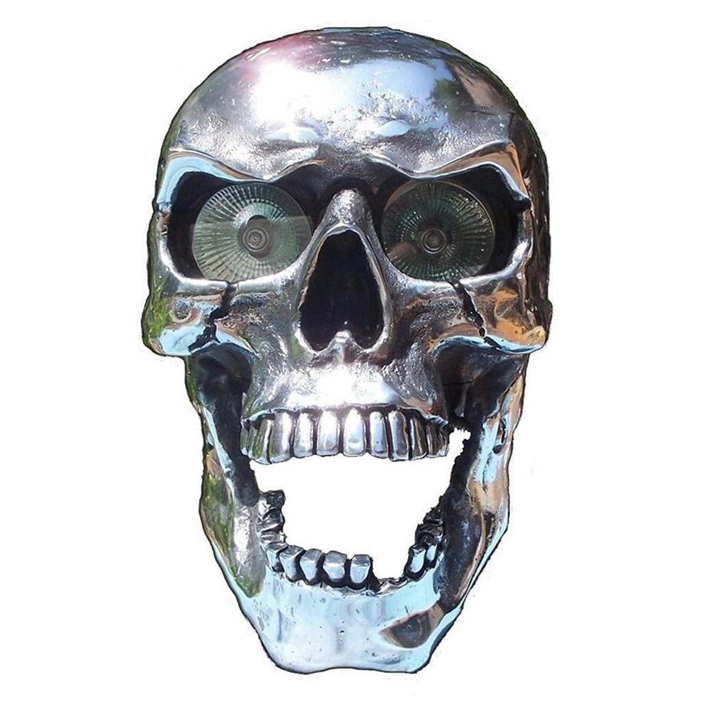 Skull Headlight Universal LED Motorcycle Skull Lamp Motorbike Front Head Light Decorative Eye-catching Moto Accessories