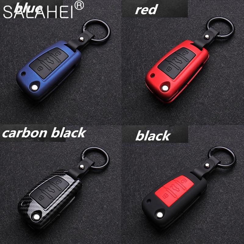 Чехол для автомобильного ключа из углеродного волокна и силикона, защитный чехол для Audi A1 A3 A4 8P 8L 8V S3 RS3 Q3 Q7 C5 C6 S3 TT, защитный чехол для автомоби...