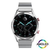 Смарт-часы AMOLED мужские с поддержкой Bluetooth и 4G памяти
