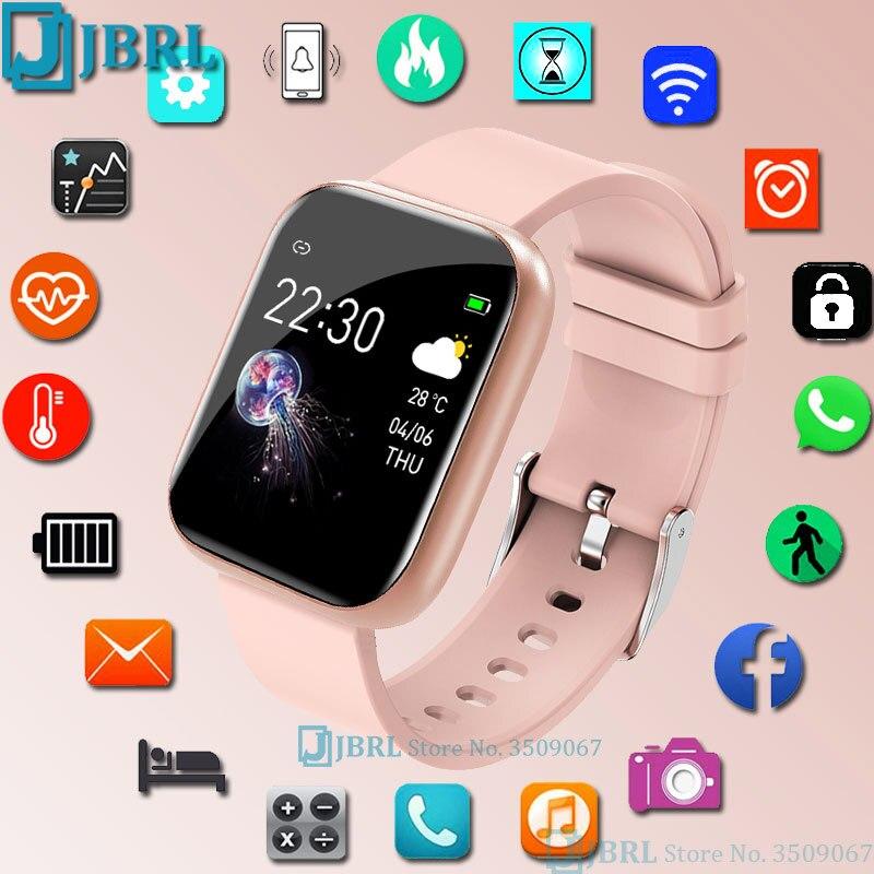 2021 الاطفال ساعة ذكية الفتيات الفتيان Smartwatch كامل اللمس الأطفال LED سوار ذكي أندرويد IOS مقاوم للماء جهاز تعقب للياقة البدنية المراهقين