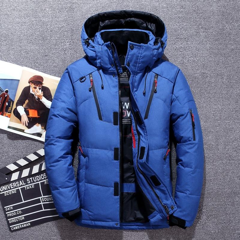 -20 Degree Winter Men's Clothing White Duck Down Jacket Parkas Man Thicken Warm Snow Jackets Coats Male Windbreaker Parkas Coat