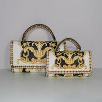 Сумка для вечерние, универсальная сумка-мессенджер, квадратная сумочка, сумка-мессенджер, мини-сумочка на цепочке с цветком, Леопардовый пр...