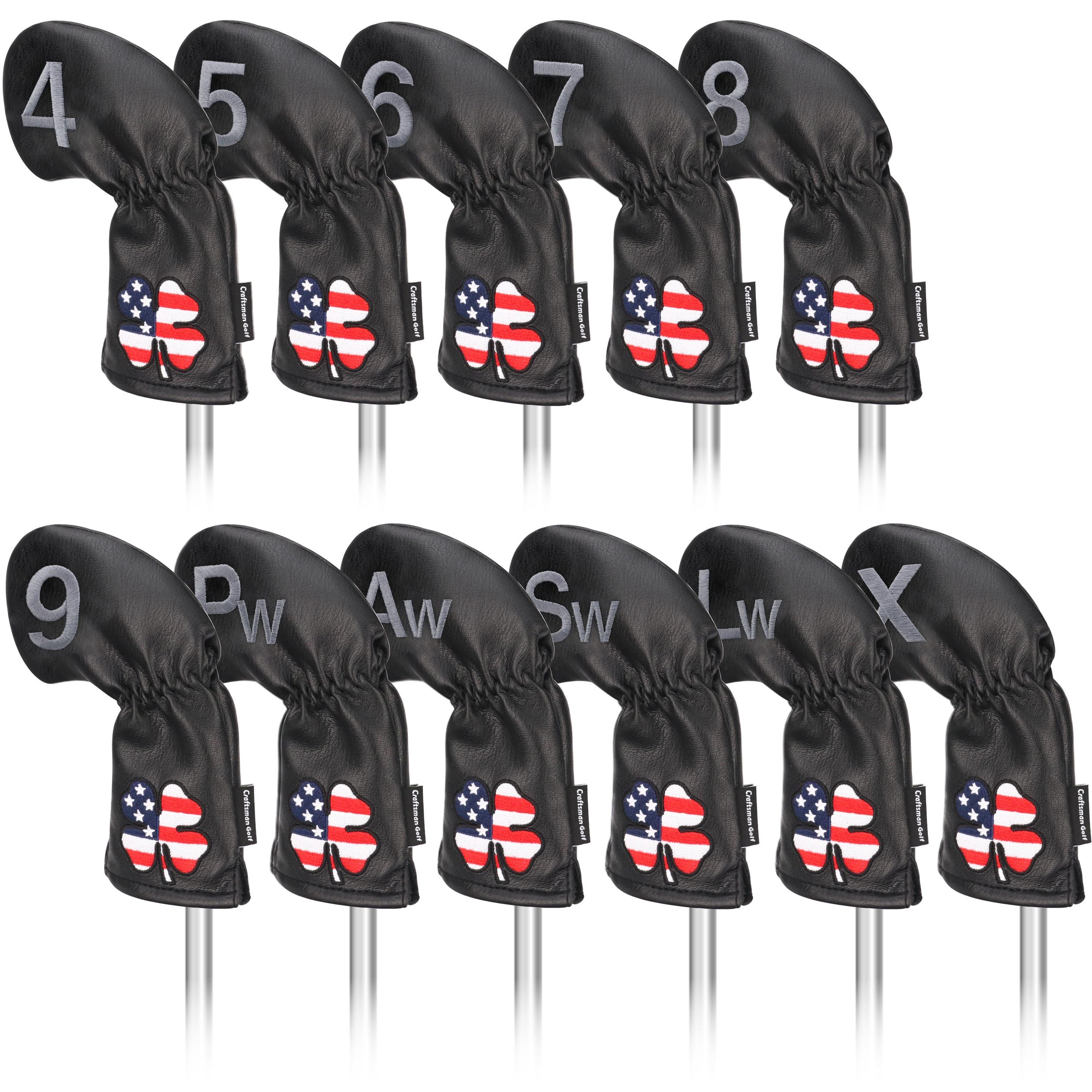 Железный Чехол Для Гольфа Craftsman, чехлы для гольфа с железной головкой, железные крышки для гольф-клуба, клинья 4,5,6,7,8,9,P,A,S,L,X