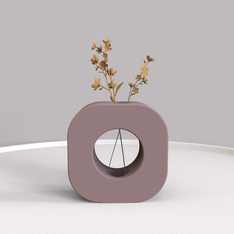 زهرة ملموسة إدراج قالب من السيليكون حامل شمعة قالب بسيط الهندسة التصميم الإبداعي لقوالب السيليكون تأثيث المنزل