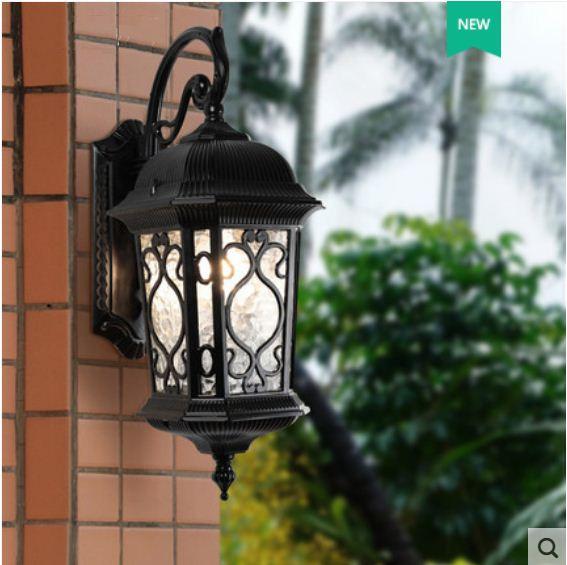 Wall lamp outdoor waterproof courtyard gate light garden fence European retro villa terrace balcony wall lamp