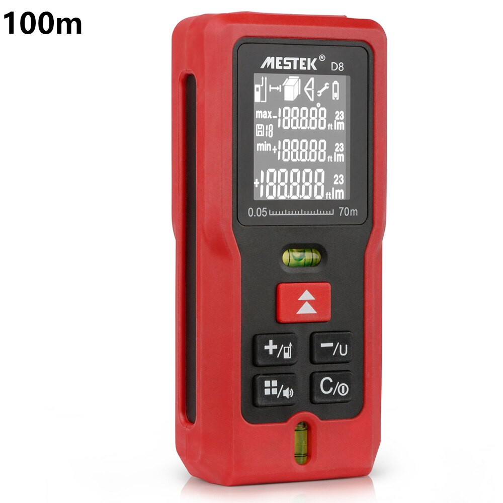 MESTEK 50m 70m 100m medidor de distancia láser telémetro medidor de nivel láser cinta métrica Medidor láser regla buscador de rango