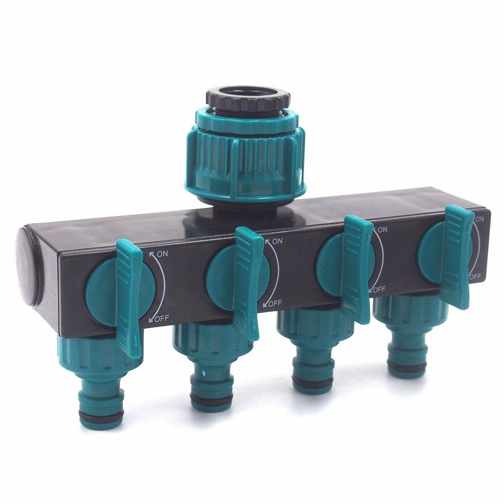 4 way torneira shunt sprinklers por conectores de metal mangueira divisores acessórios para tubos de água suprimentos irrigação rápida jardim