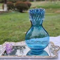 vase handmade curling wave water drop bottle mouth transparent bubble blue glass aquacultural flower %d0%b2%d0%b0%d0%b7%d0%b0 %d0%b4%d0%bb%d1%8f %d1%86%d0%b2%d0%b5%d1%82%d0%be%d0%b2 %d1%81%d1%82%d0%b5%d0%ba%d0%bb%d0%be
