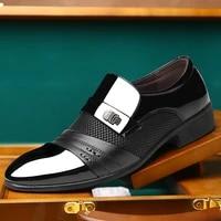 summer men dress plus size men formal flat shoes black brown breathable slip on men business office shoes plus size 38 48 ad 85