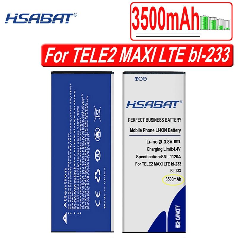 HSABAT 3500mAh BL-233 batería para TELE2 MAXI LTE bl-233