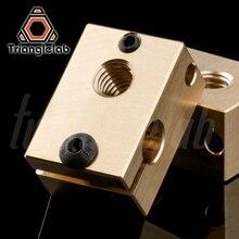 copper brass heater block for E3D copper hotend for 3D printer high temperature  for Hardened Steel V6 Nozzles/titan extruder
