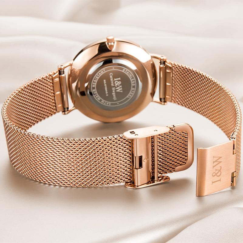 CARNIVAL Brand Women Fashion Watch Ladies Waterproof Rose Gold Silver Ultra Thin Casual Quartz Wristwatch Clock Relogio Feminino enlarge