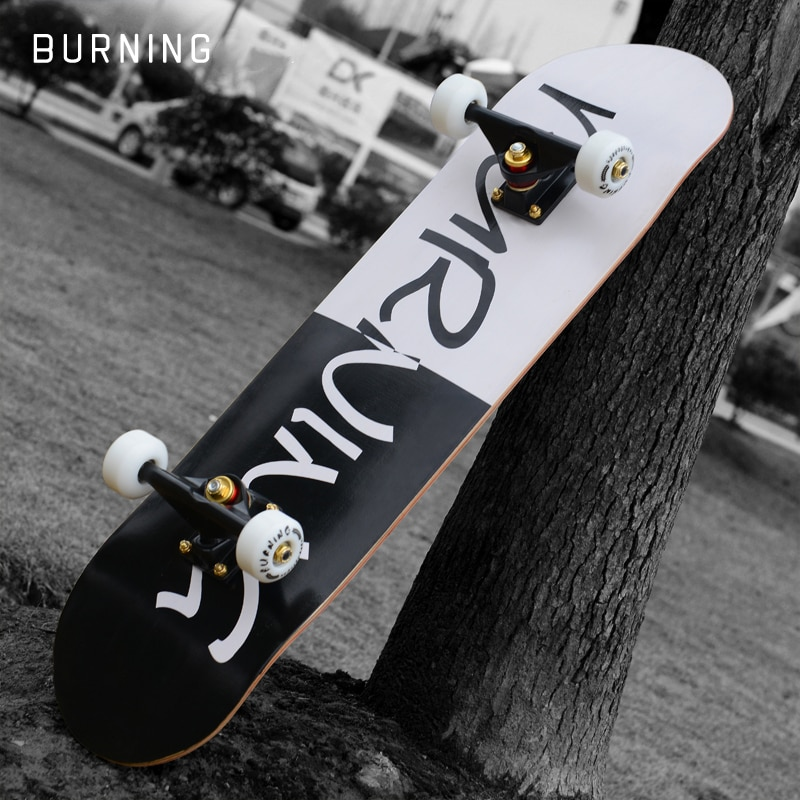 Professional Skateboards Longboard Skateboard Wood Complete Beginner Skateboard Street Brushing Kaykay Outdoor Sports BI50SB