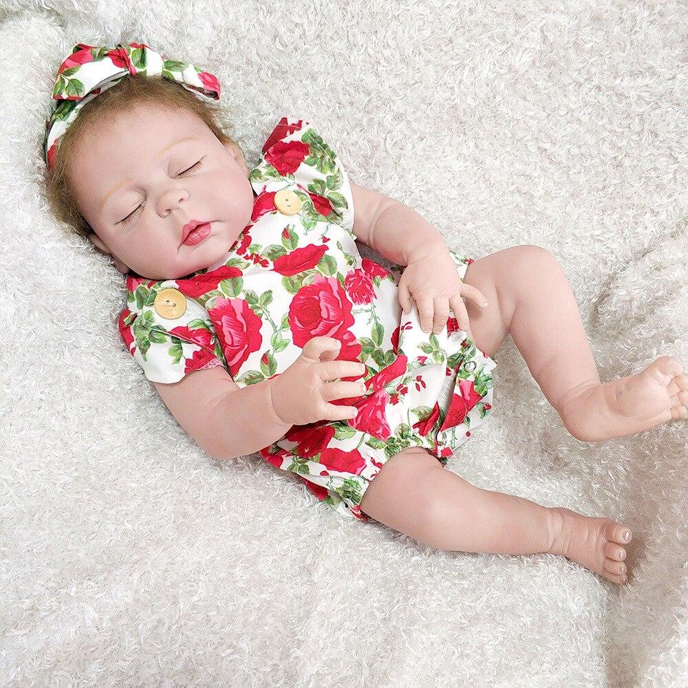 "Silicone cheio vinil reborn bebê boneca 23 ""57 cm bebê recém-nascido boneca presente venda quente bebe reborn bonecas"