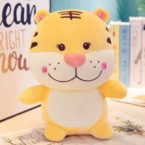 Speedline 30 cm tigre de pelúcia bonecas dos desenhos animados animal de pelúcia macio travesseiro bonito brinquedo de aniversário presente de natal para crianças