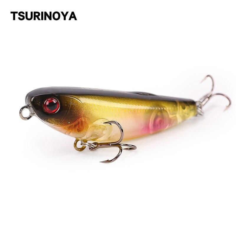 TSURINOYA flotante cebo estilo lápiz 50mm 5g/0,18 oz señuelo de Pesca de agua superior cebos duros Isca Artificial Para Pesca Leurre Peche Wobbler