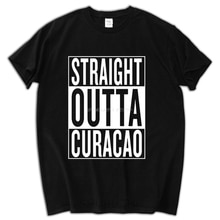 man fashion summer present Straight Outta Curacao Tee Shirt Straight Outta Curacao T Shirts Male Men sbz5192